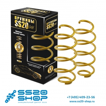 Пружины передней подвески SS20 серии Gold Progressive бочкообразные для ВАЗ 2192, 2194 ЛАДА Калина 2