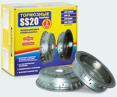 Тормозные барабаны SS20 для ВАЗ-2108-2194 (перфорированные)