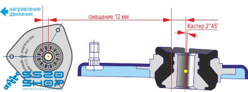 Схема опоры SS20 для LADA Granta с ЭУР и без ЭУР