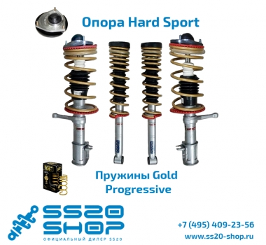 Комплект подвески в сборе SS20 GOLD с опорой ШС Hard Sport для ВАЗ 2113-2115